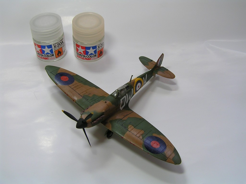 How to build a plastic model - oil paints