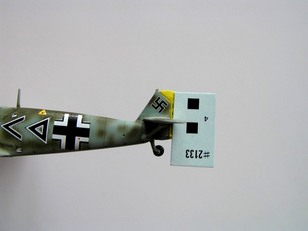 An aircraft model with Nazi swastika decal