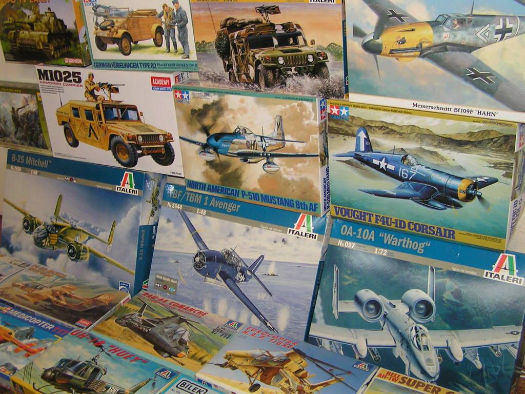 plastikové modely letadel stavebnice