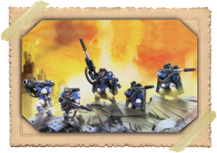 Warhammer 40000 Space Marine Scouts with Sniper Rifles