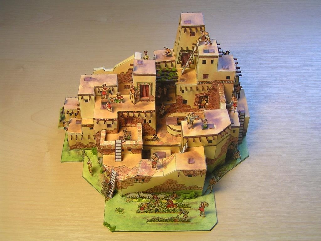 Native americans pueblo for How to build a model pueblo house