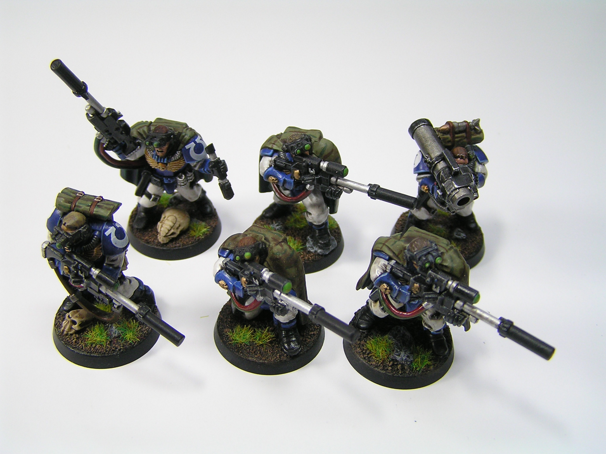 model Space Marine Scouts with Sniper Rifles